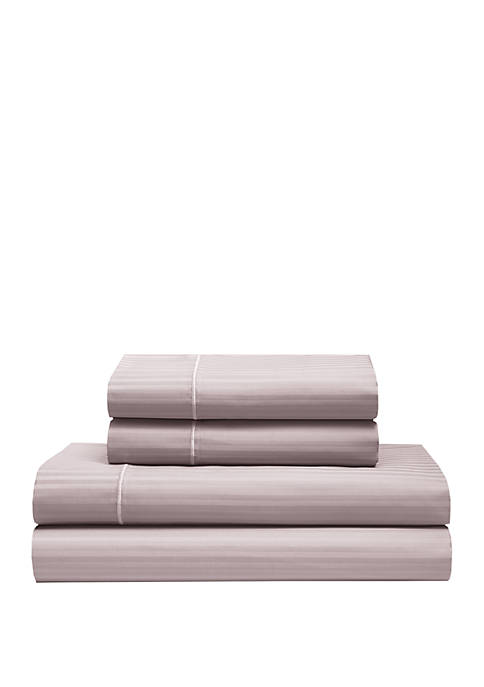 Elite Home Products Silky Soft Cotton Striped Sheet