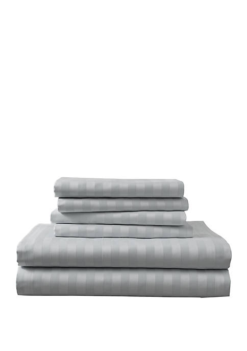 Cotton Rich Luxury Estate Woven Stripe Bonus Sheet Set