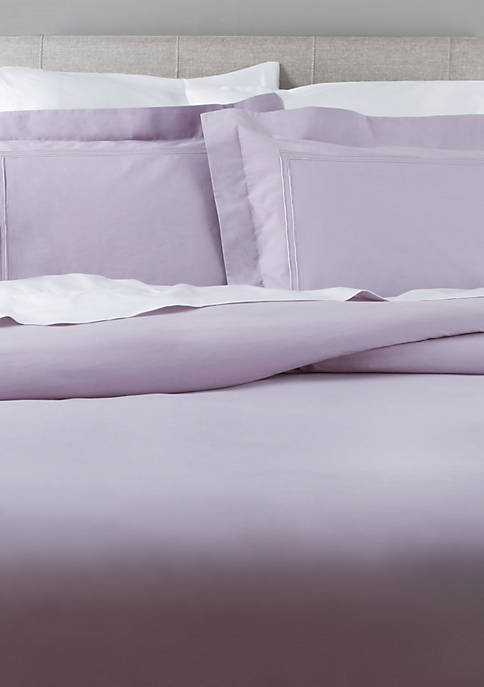 Elite Home Products Soft Washed Percale Duvet Cover