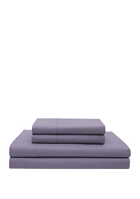 Elite Home Products Cotton Percale Sheet Set