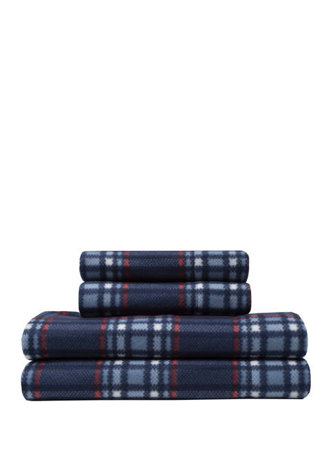 Elite Home Products Microfleece Winter Nights Sheet Sets