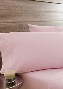 Washed Percale Orchid Sheet Set