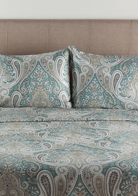 Elite Home Products Crystal Palace Print Duvet Cover