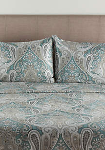 Elite Home Products Crystal Palace Print Duvet Cover Set