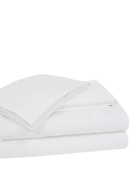 Elite Home Products Hemstitch Solid Sheet Set