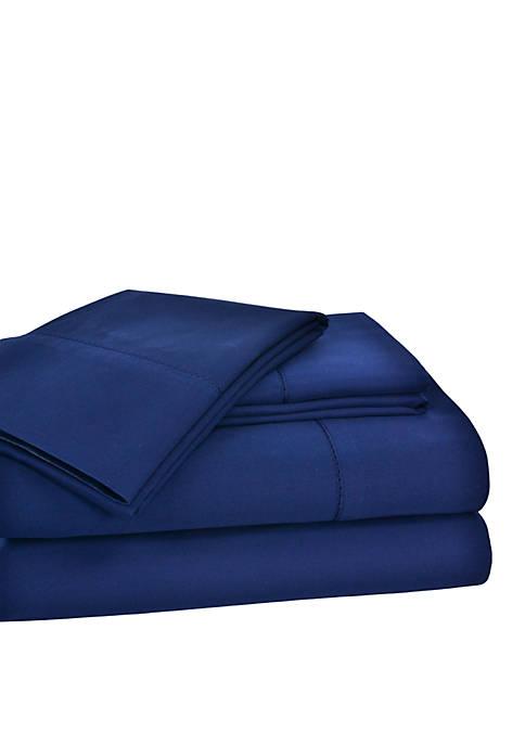Elite Home Products Hemstitch Solid Sheet Set