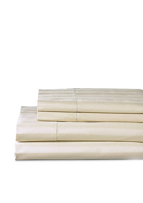 Elite Home Products Andiamo Cotton Stripe Sheet Set