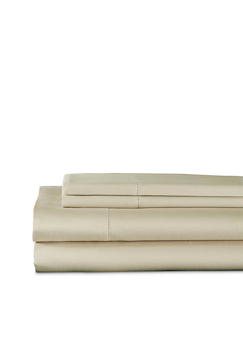Elite Home Products Andiamo Cotton Solid Sheet Set