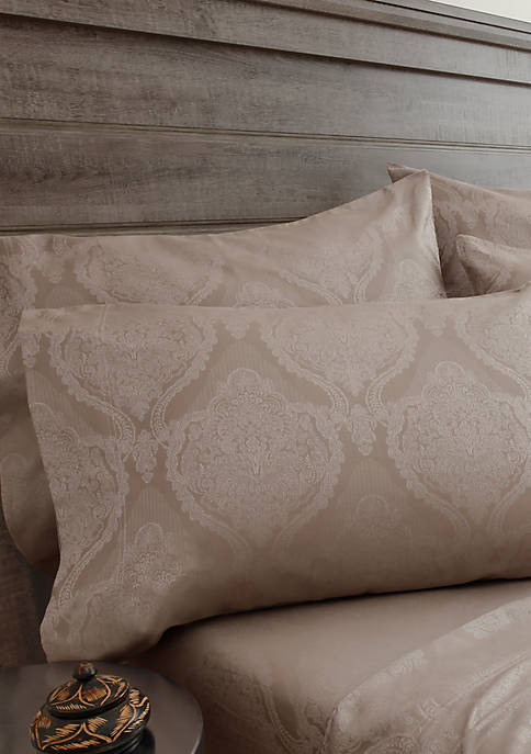 Elite Home Products Jacquard Damask Bonus Full Sheet