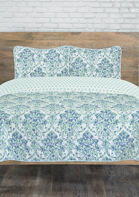 Elite Home Products Raelyn Reverse Full/Queen Quilt Set
