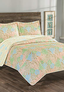Elite Home Products Biscayne Bay Reversible Quilt Set