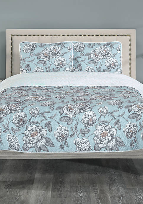 Elite Home Products Annabelle Reverse Quilt Set