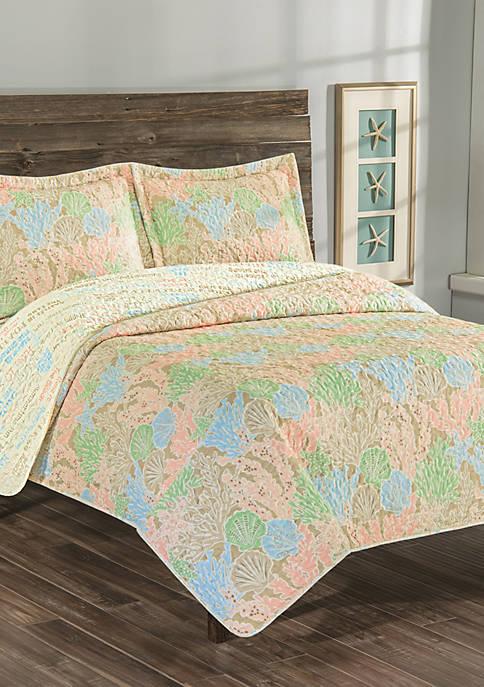 Biscayne Bay Reversible Quilt Set