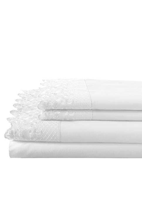Elite Home Products Home Lace Microfiber Sheet Set-