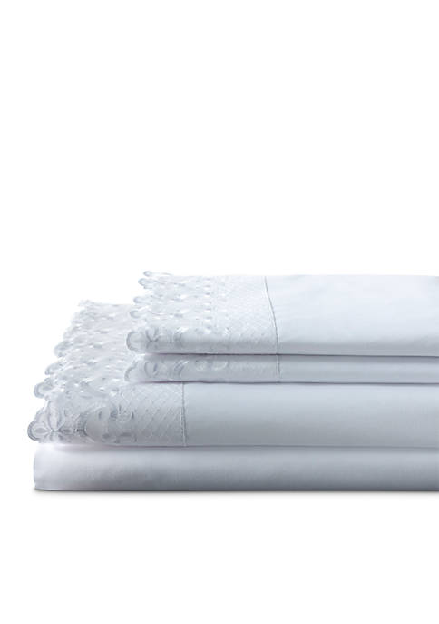 Elite Home Products Hotel Lace Microfiber Sheet Sets