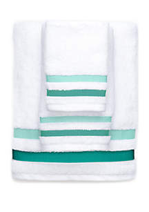 Crown & Ivy™ Double Stripe Weft Insert Towel
