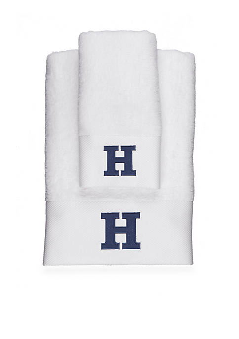 Crown & Ivy™ Monogram Bath Towel Collection
