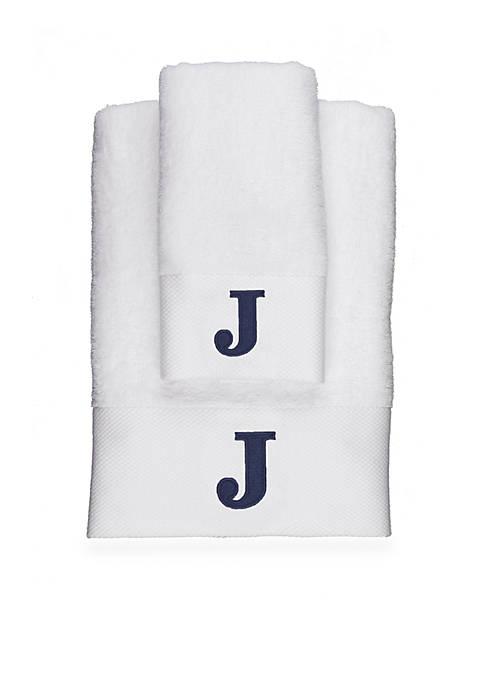 Crown & Ivy™ Monogram Bath Towel Collection