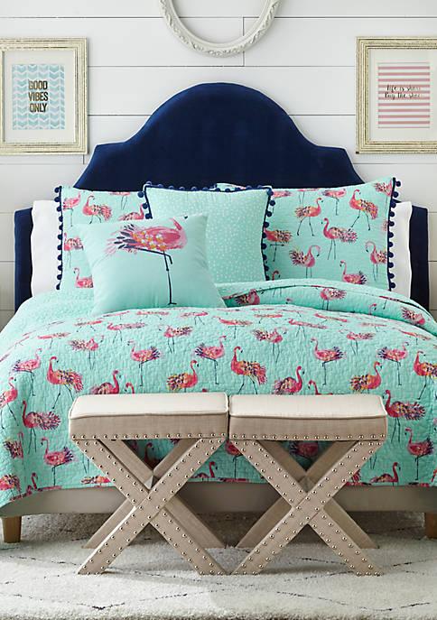 Crown Amp Ivy Flora Flamingo Quilt Belk