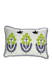 Kacie Embroidered Decorative Pillow