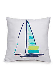 Beau Sailboat Decorative Pillow