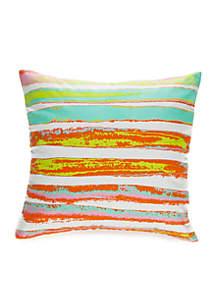 Georgia Watercolor Stripe Decorative Pillow