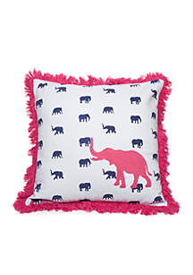 Crown & Ivy™ Raeanne Elephant Crewel Throw Pillow