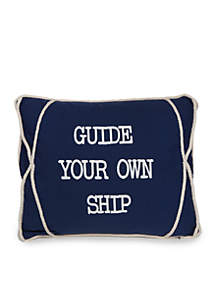 Guide Your Own Ship Decorative Pillow