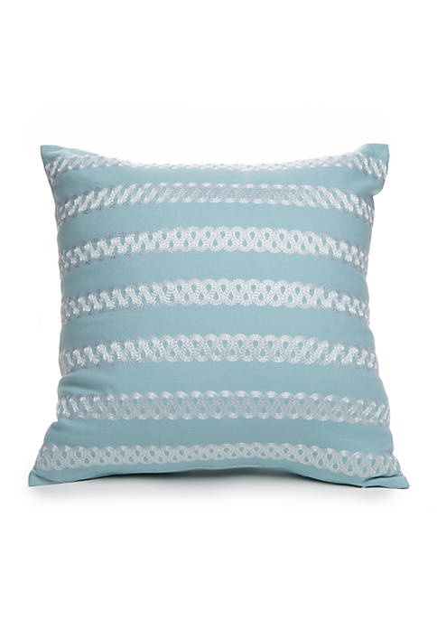 Crown & Ivy™ Luella Embroidered Decorative Pillow