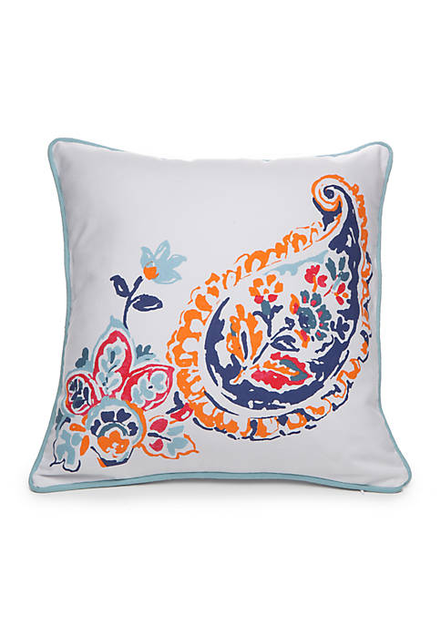 Crown & Ivy™ Luella Paisley Decorative Pillow