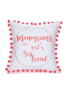 Monogram Decorative Pillow