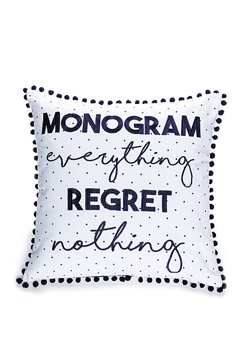 Crown & Ivy™ Monogram Everything Throw Pillow
