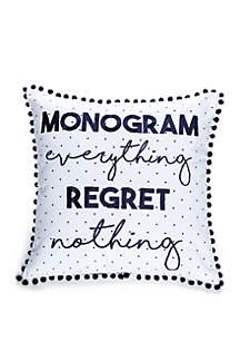 Monogram Everything Throw Pillow