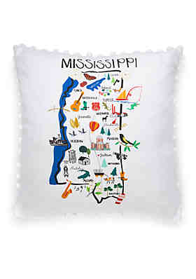Crown & Ivy™ Mississippi Throw Pillow ...