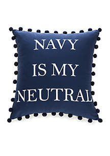 Kacie 'Navy Is My Neutral' Decorative Pillow