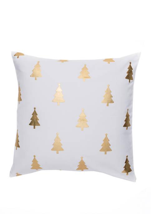 Gold Tree Throw Pillow