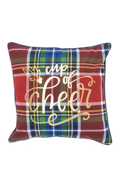 Cup of Cheer Throw Pillow