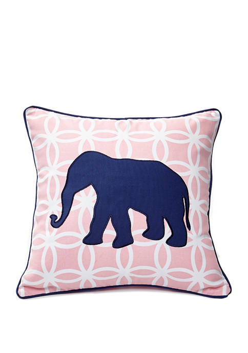 Crown & Ivy™ Elephant Link Pillow