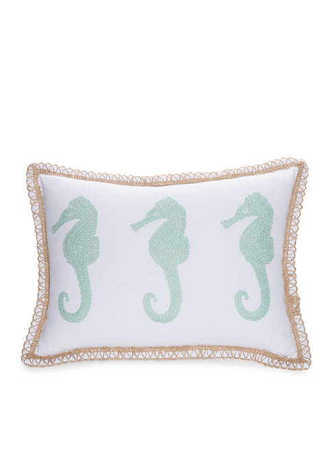 Crown & Ivy™ Seahorse Decorative Pillow