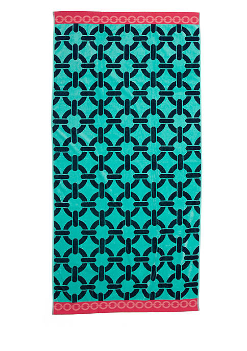 Crown & Ivy™ Allover Links Jacquard Beach Towel