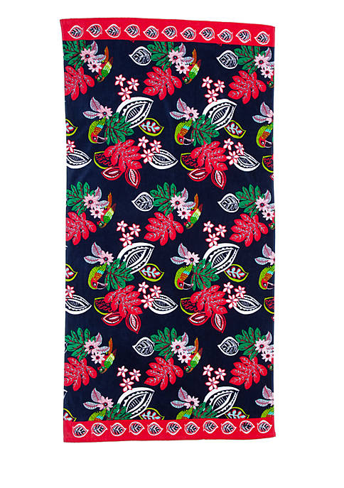 Crown & Ivy™ Pop Tropic Printed Beach Towel