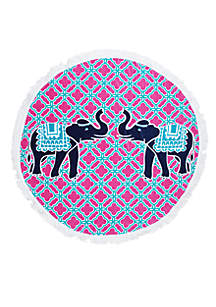 India Ellie Printed Round Beach Towel