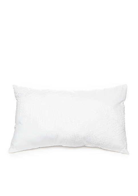 Rhett Palm Leaf Embroidered Decorative Pillow