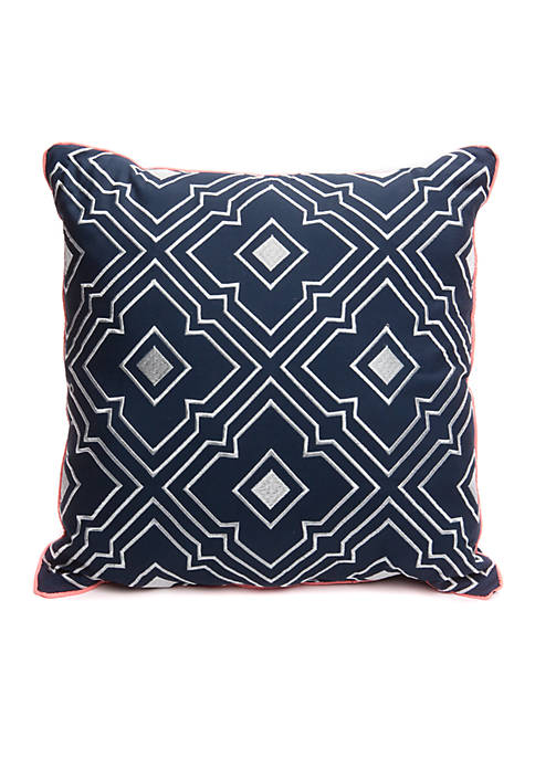 Crown & Ivy™ Alston Embroidered Throw Pillow