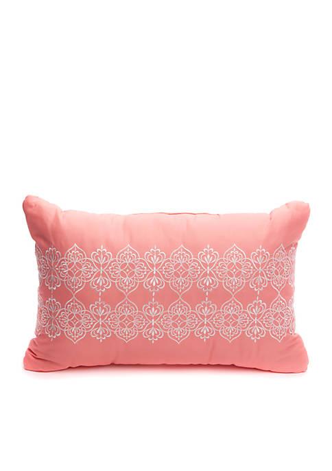 Crown & Ivy™ Alston Embroidered Boudoir Throw Pillow