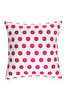 Crown & Ivy™ Winnie Embroidered Dot Throw Pillow
