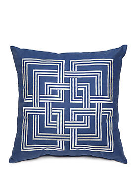 Avery Embroidered Throw Pillow
