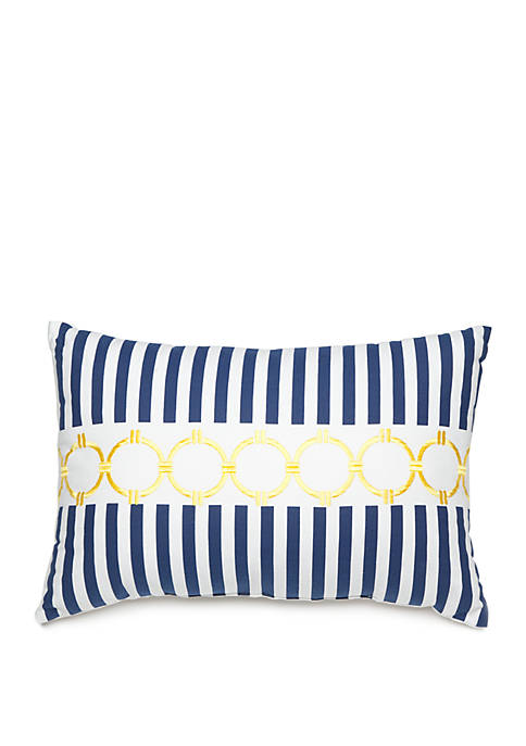Avery Stripe Link Throw Pillow