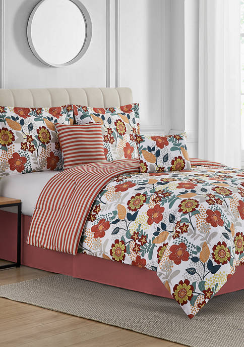 Modern. Southern. Home.™ Vintage Floral 6-Piece Bed-In-A-Bag