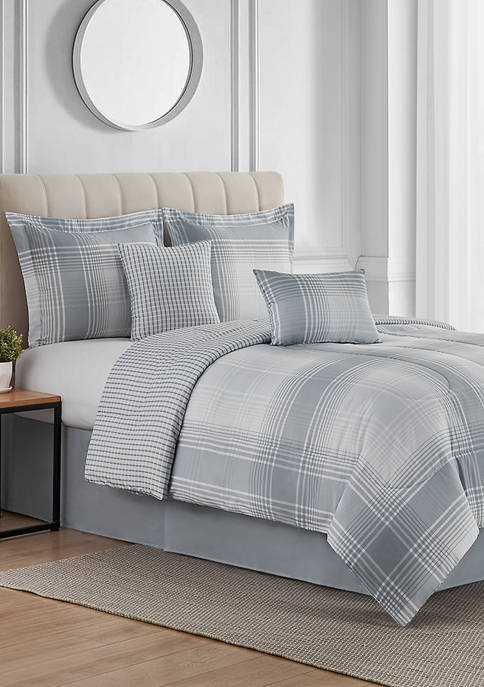 Modern. Southern. Home.™ Shadow Plaid 6-Piece Bed-In-A-Bag